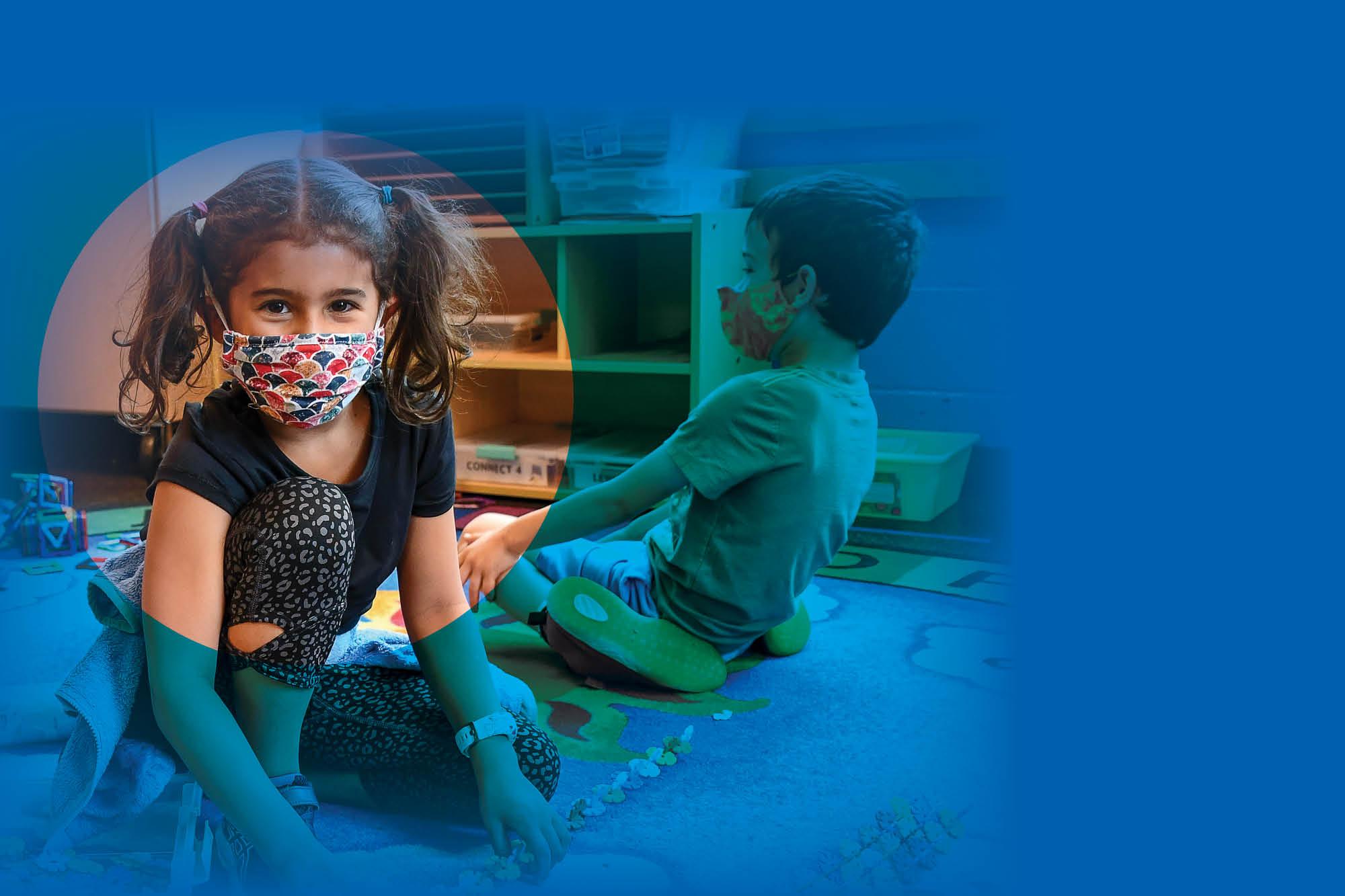 little girl in y program