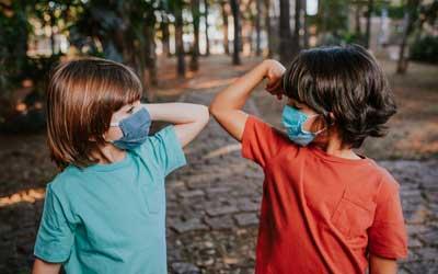 boys at nature camp